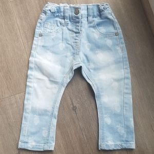 NWOT Next baby strawberry denim